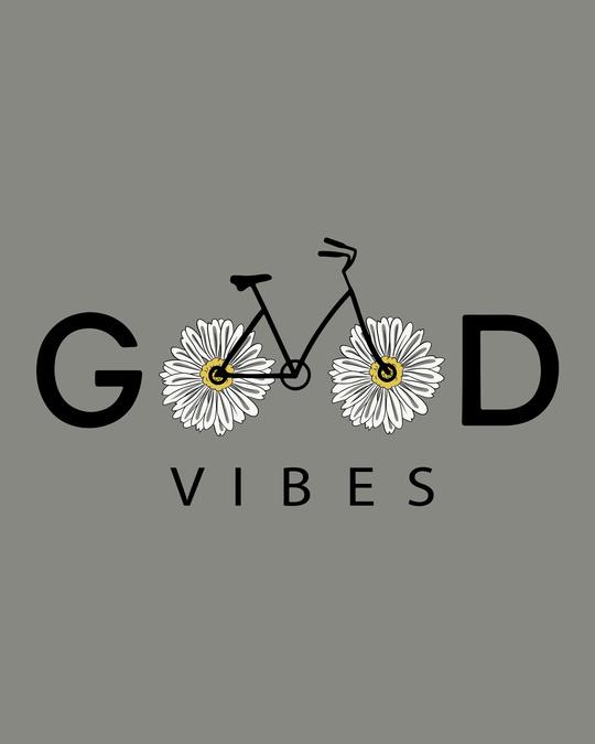 Shop Good Vibes Bicycle Boyfriend T-Shirt-Full