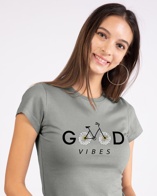 Shop Good Vibes Bicycle Half Sleeve T-Shirt-Front