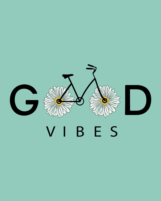 Shop Good Vibes Bicycle Round Neck 3/4th Sleeve T-Shirt