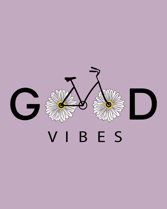 Shop Good Vibes Bicycle Scoop Neck Full Sleeve T-Shirt-Full