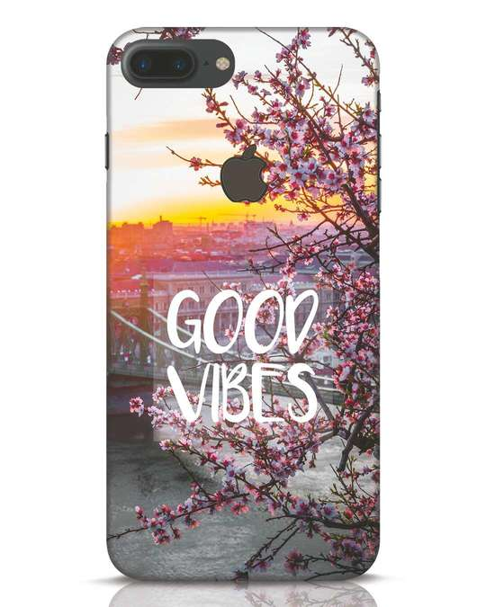 Shop Good Vibes iPhone 7 Plus Logo Cut Mobile Cover-Front