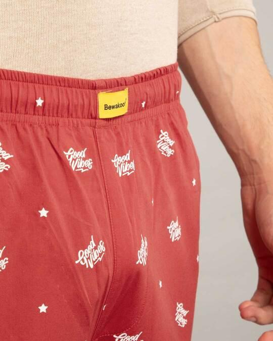 Shop Good Vibes Pattern All Over Printed Pyjama