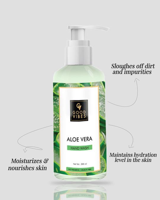 Shop Good Vibes Hand Wash - Lemon & Aloe Vera (300ml)-Back