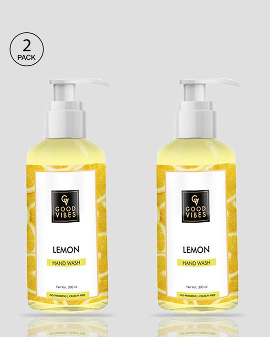 Shop Good Vibes Hand Wash - Lemon (300 ml) Pack of 2-Front
