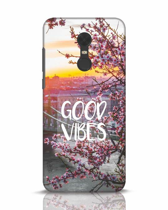 Shop Good Vibes Xiaomi Redmi Note 5 Mobile Cover-Front