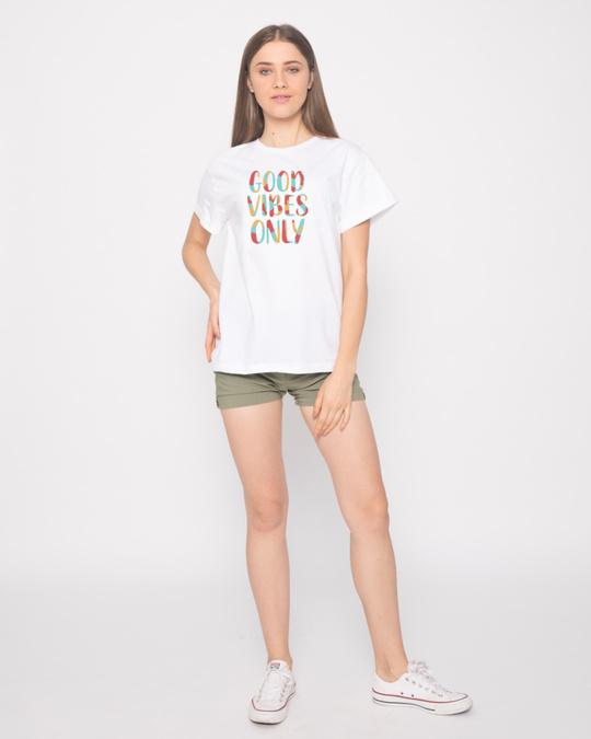 Shop Goods Vibes Only Boyfriend T-Shirt