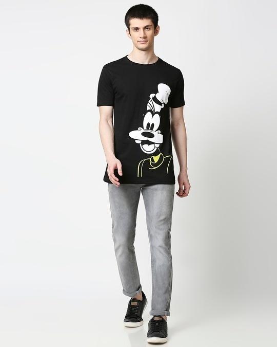 Shop Goofy Half Sleeves Hperprint T-Shirt (DL) Black-Full