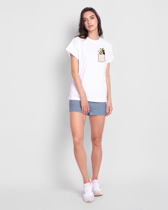 Shop Goofy Mickey Pocket Boyfriend T-Shirt (DL) White-Full