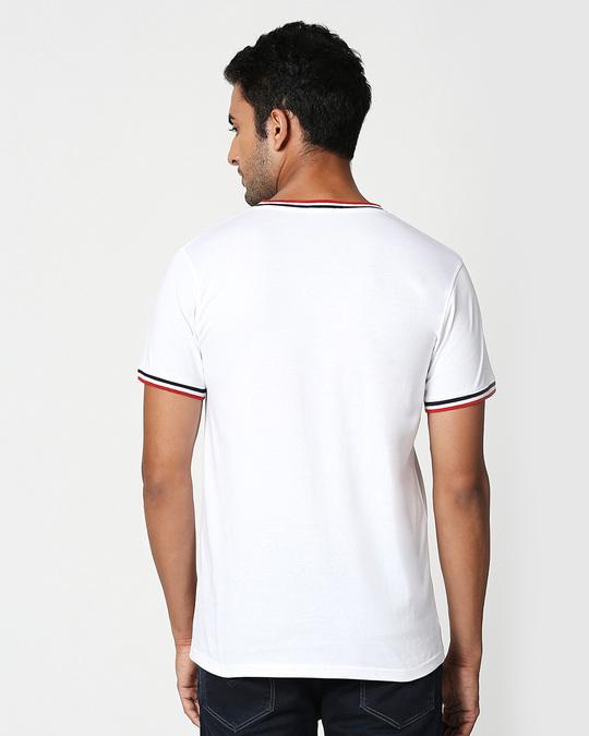 Shop Goofy Mickey Pocket Varsity Rib Half Sleeve T-Shirt-Back