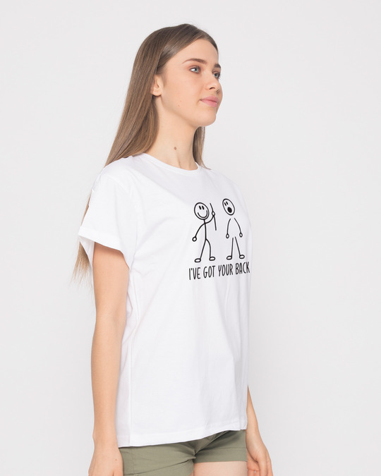 Shop Got Your Back Boyfriend T-Shirt-Back