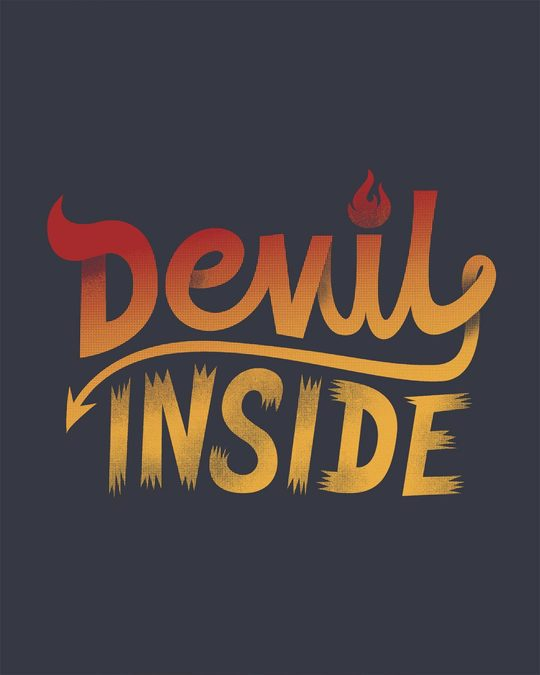 Shop Gradient Devil Inside Boyfriend T-Shirt