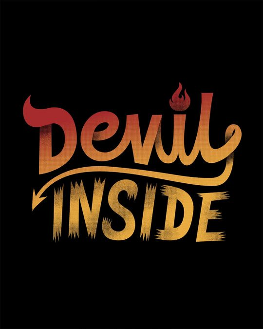 Shop Gradient Devil Inside Full Sleeve T-Shirt