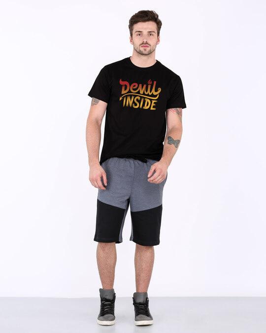 Shop Gradient Devil Inside Half Sleeve T-Shirt