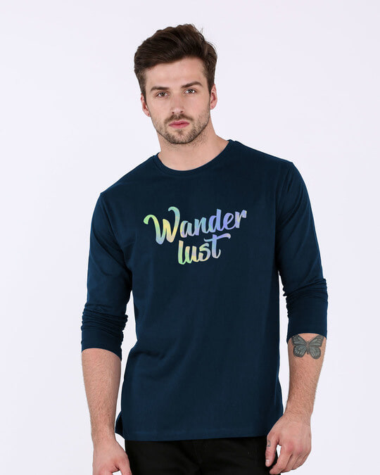 Shop Gradient Wanderlust Full Sleeve T-Shirt-Front