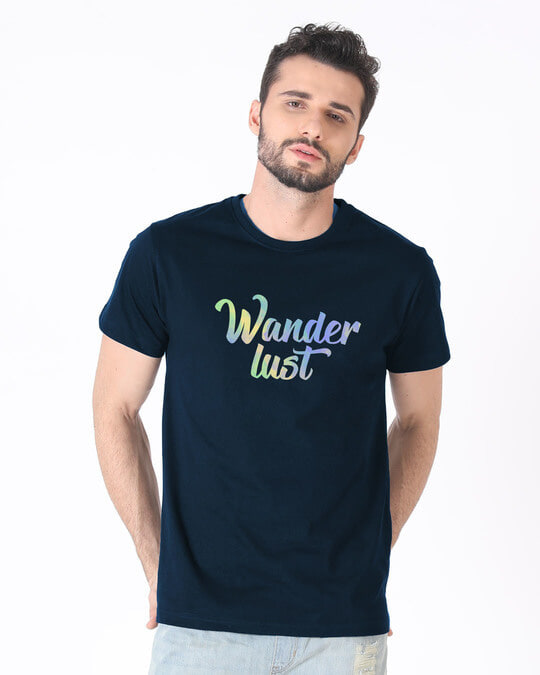 Shop Gradient Wanderlust Half Sleeve T-Shirt-Back