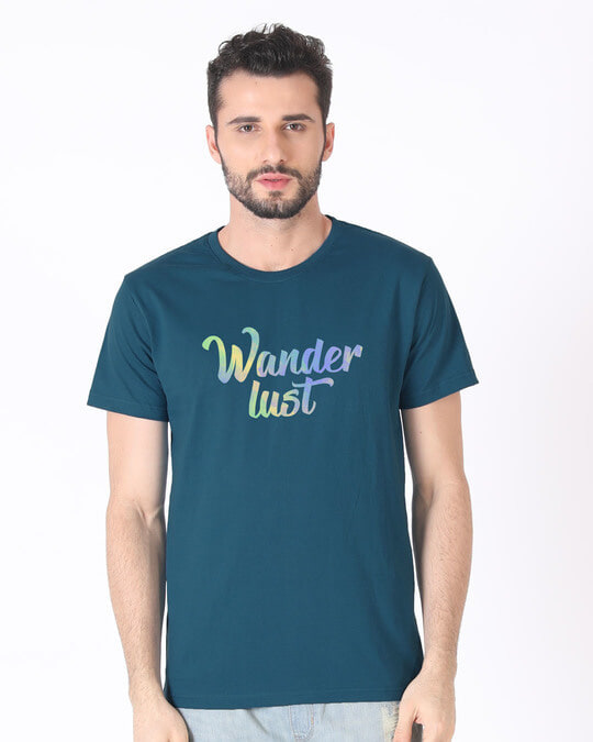 Shop Gradient Wanderlust Half Sleeve T-Shirt-Back
