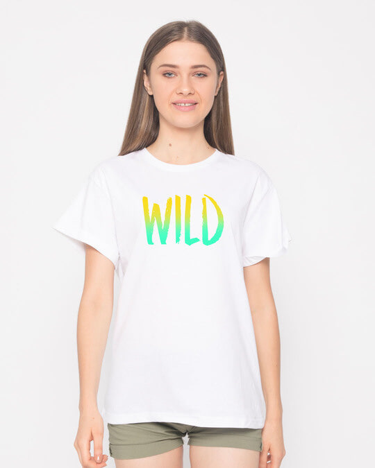 Shop Gradient Wild Boyfriend T-Shirt-Front