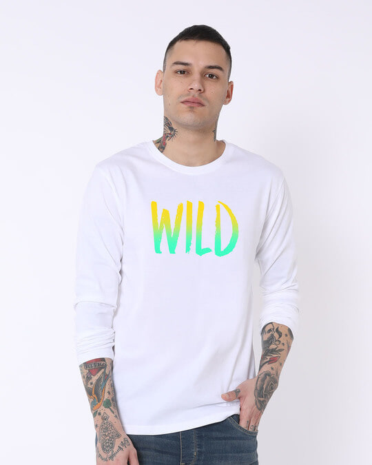 Shop Gradient Wild Full Sleeve T-Shirt-Front