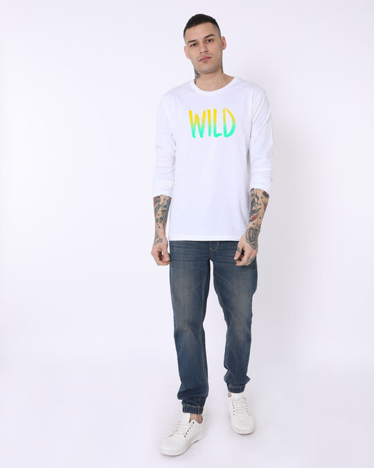 Shop Gradient Wild Full Sleeve T-Shirt