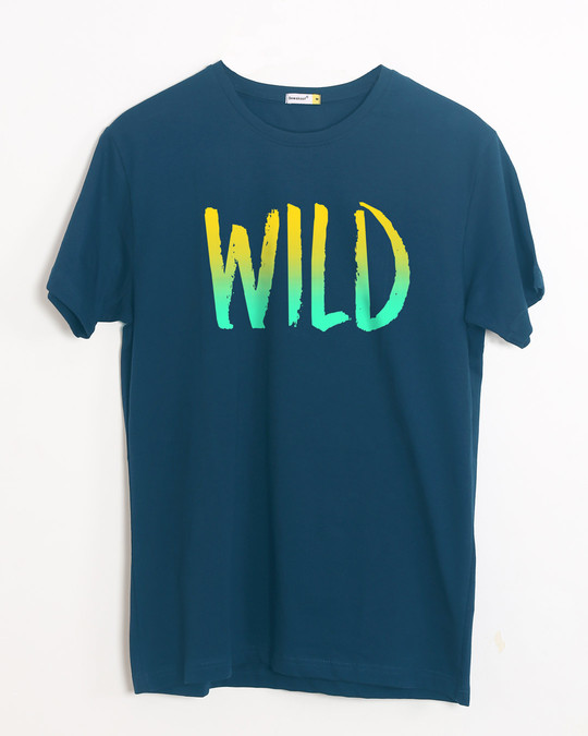 Shop Gradient Wild Half Sleeve T-Shirt-Front