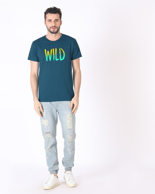 Shop Gradient Wild Half Sleeve T-Shirt