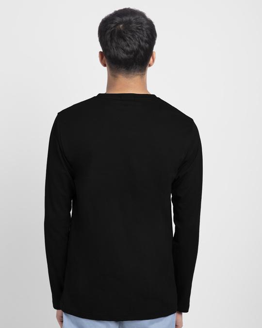 Shop Grafitti Batman Logo Full Sleeve T-Shirt Black (BML)-Back