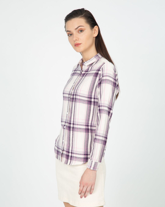 Shop Grape White Slim Shirt-Full