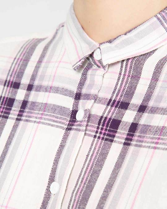 Shop Grape White Slim Shirt