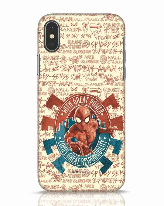 Shop Great Responsibility iPhone X Mobile Cover (AVL)-Front