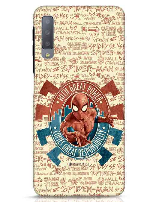 Shop Great Responsibility Samsung Galaxy A7 Mobile Cover (AVL)-Front