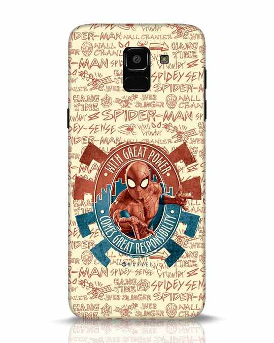 Shop Great Responsibility Samsung Galaxy J6 Mobile Cover (AVL)-Front