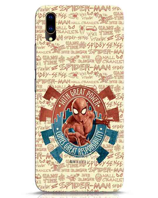 Shop Great Responsibility Vivo V11 Pro Mobile Cover (AVL)-Front