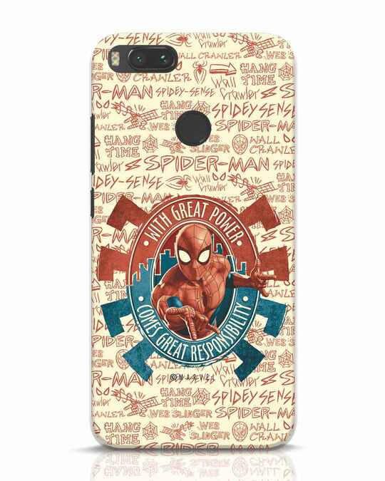 Shop Great Responsibility Xiaomi Mi A1 Mobile Cover (AVL)-Front