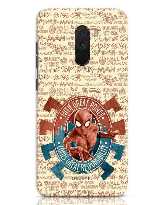 Shop Great Responsibility Xiaomi POCO F1 Mobile Cover (AVL)-Front