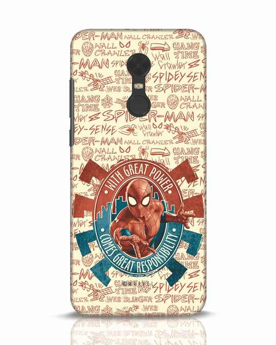 Shop Great Responsibility Xiaomi Redmi Note 5 Mobile Cover (AVL)-Front