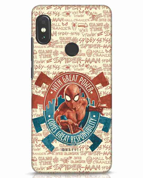 Shop Great Responsibility Xiaomi Redmi Note 5 Pro Mobile Cover (AVL)-Front