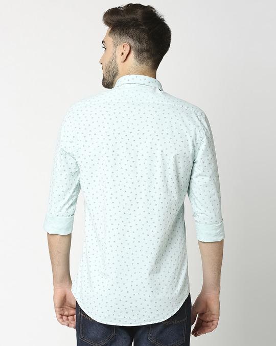 Shop Green Cotton Melange Shirt-Full