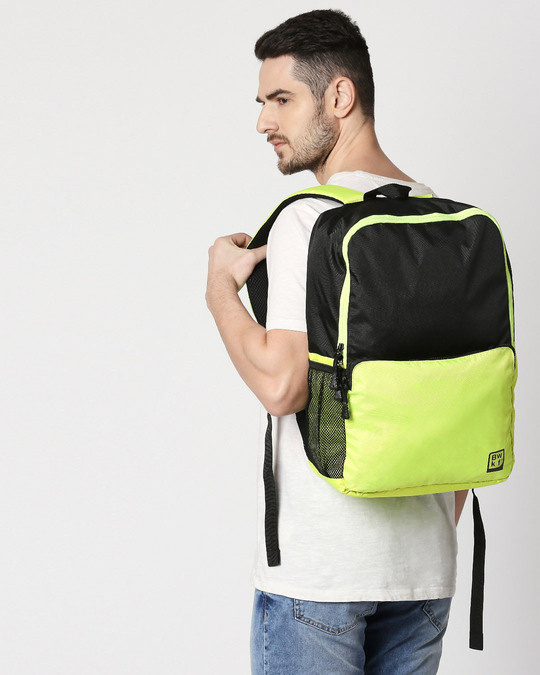 Shop Green Kick Laptop BackPack-Back