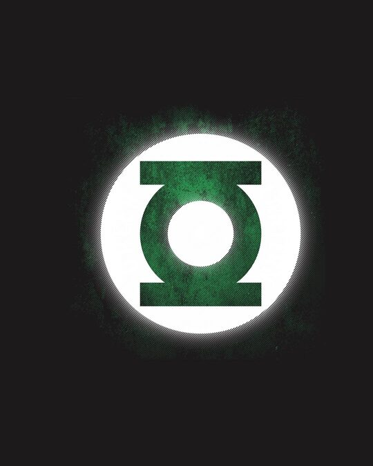 Shop Green Lantern Glow In Dark Half Sleeve T-Shirt (DCL)