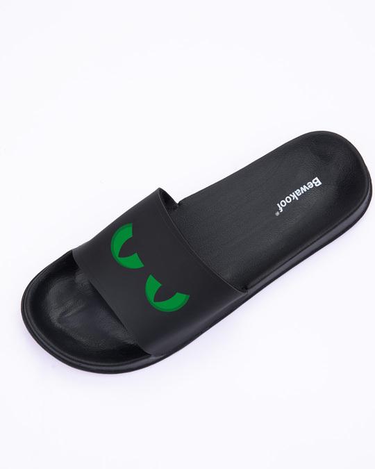 Shop Green Scary Eyes Men's Printed Sliders-Design