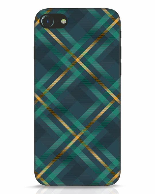 Shop Green Tartan iPhone 7 Mobile Cover-Front