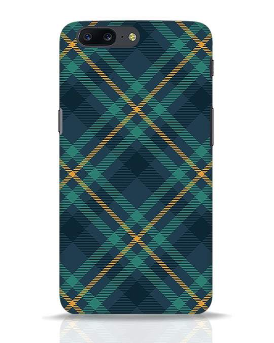 Shop Green Tartan OnePlus 5 Mobile Cover-Front