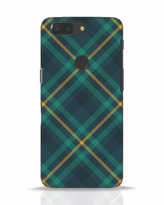 Shop Green Tartan OnePlus 5T Mobile Cover-Front