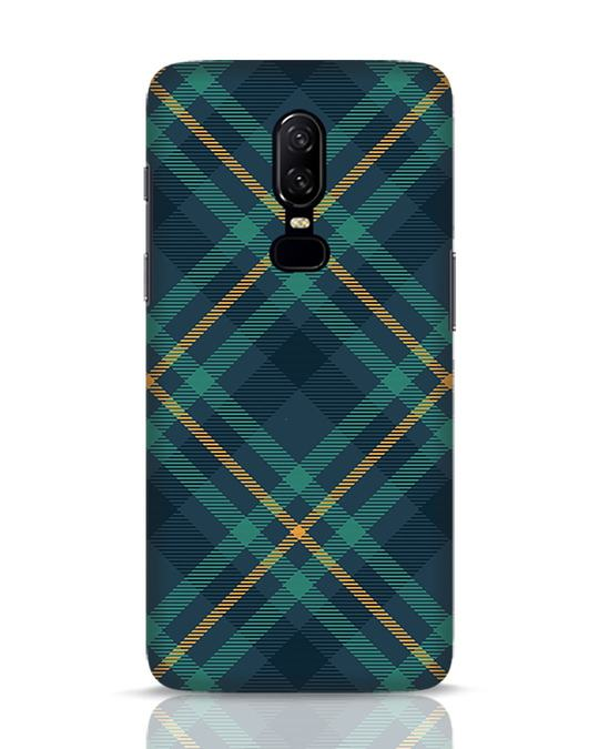 Shop Green Tartan OnePlus 6 Mobile Cover-Front