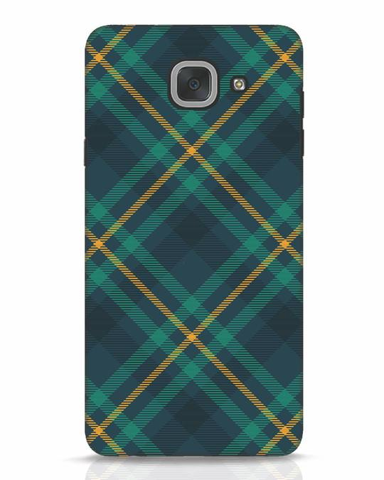 Shop Green Tartan Samsung Galaxy J7 Max Mobile Cover-Front