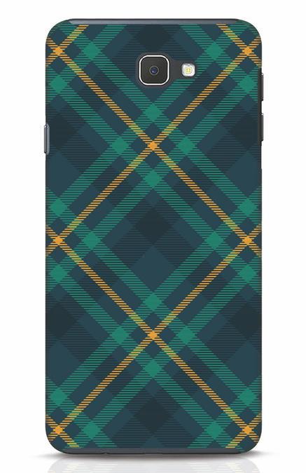 Shop Green Tartan Samsung Galaxy J7 Prime Mobile Cover-Front