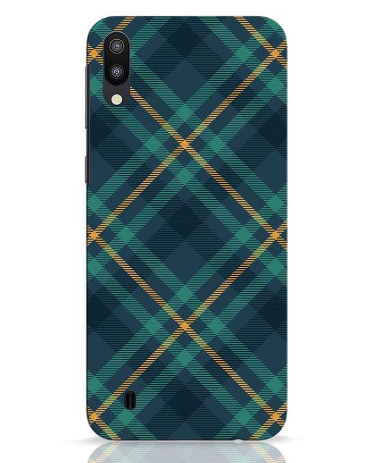 Shop Green Tartan Samsung Galaxy M10 Mobile Cover-Front