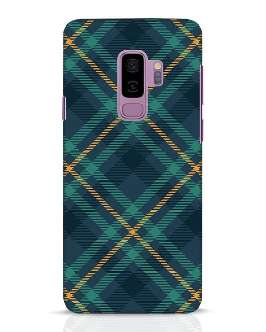 Shop Green Tartan Samsung Galaxy S9 Plus Mobile Cover-Front