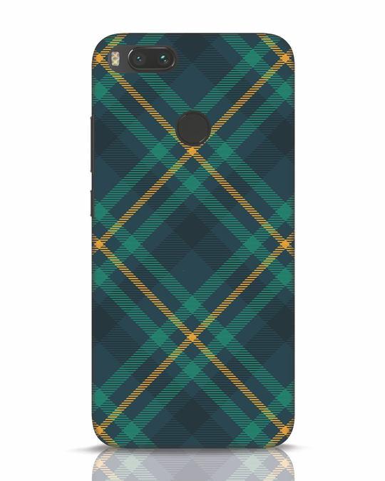 Shop Green Tartan Xiaomi Mi A1 Mobile Cover-Front