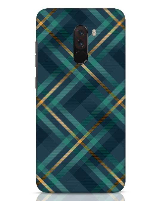 Shop Green Tartan Xiaomi POCO F1 Mobile Cover-Front